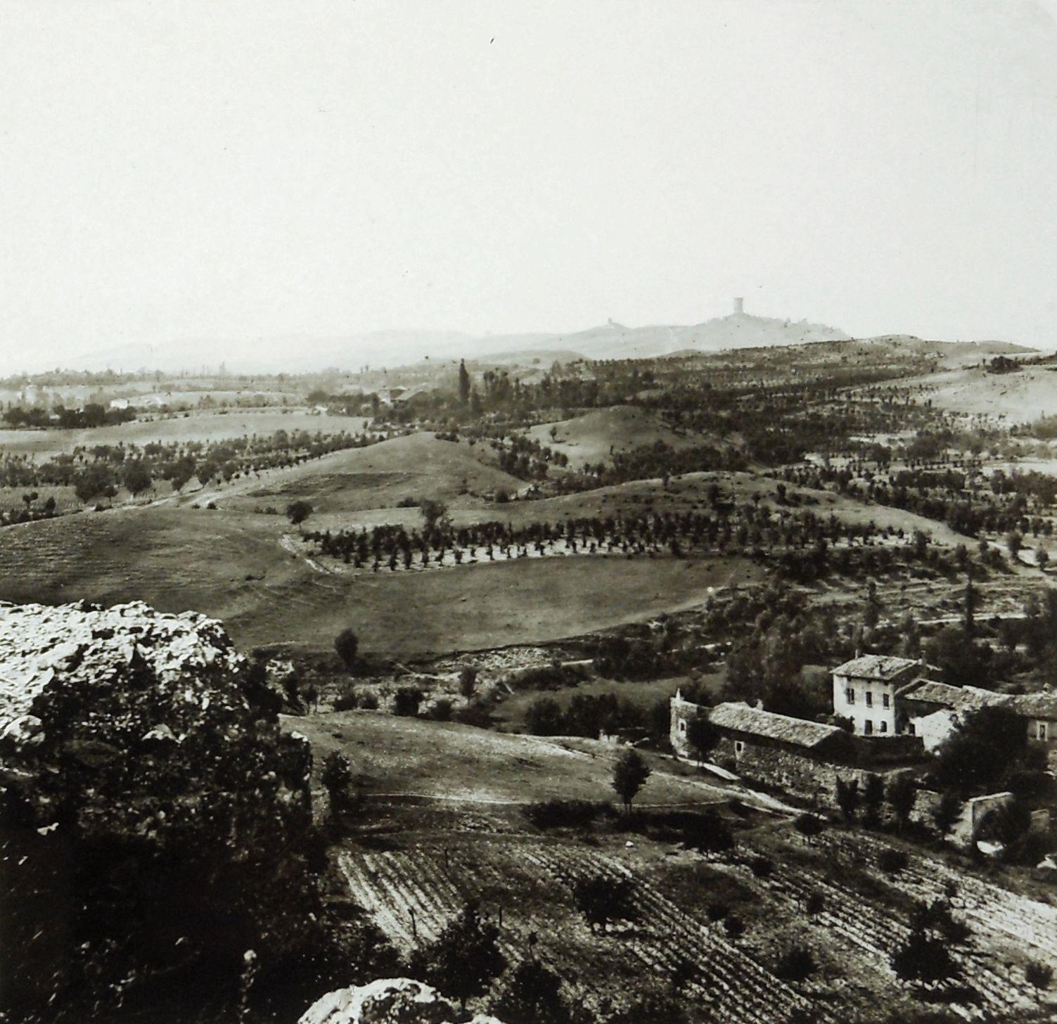 solferino, campo di battaglia visto da cavriana, 1859