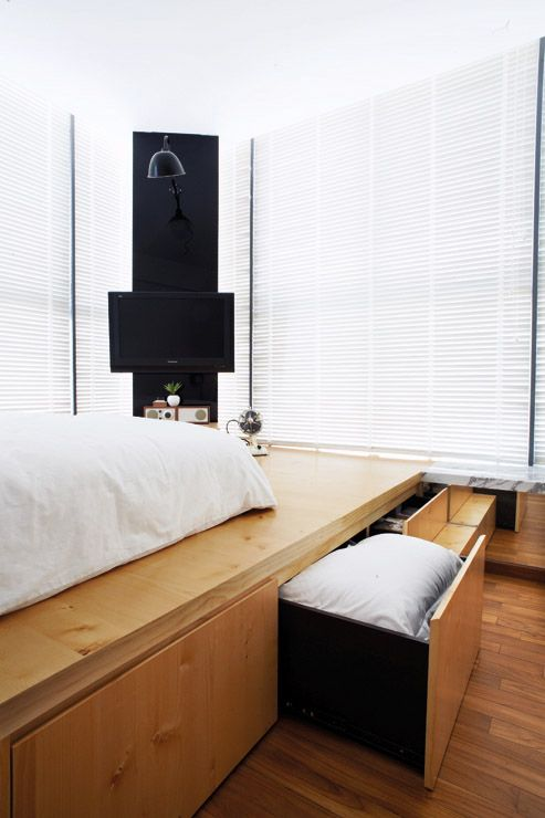 Platform Bed Bedroom Sets: The Storage Potential Of The Platform Is Maximised By