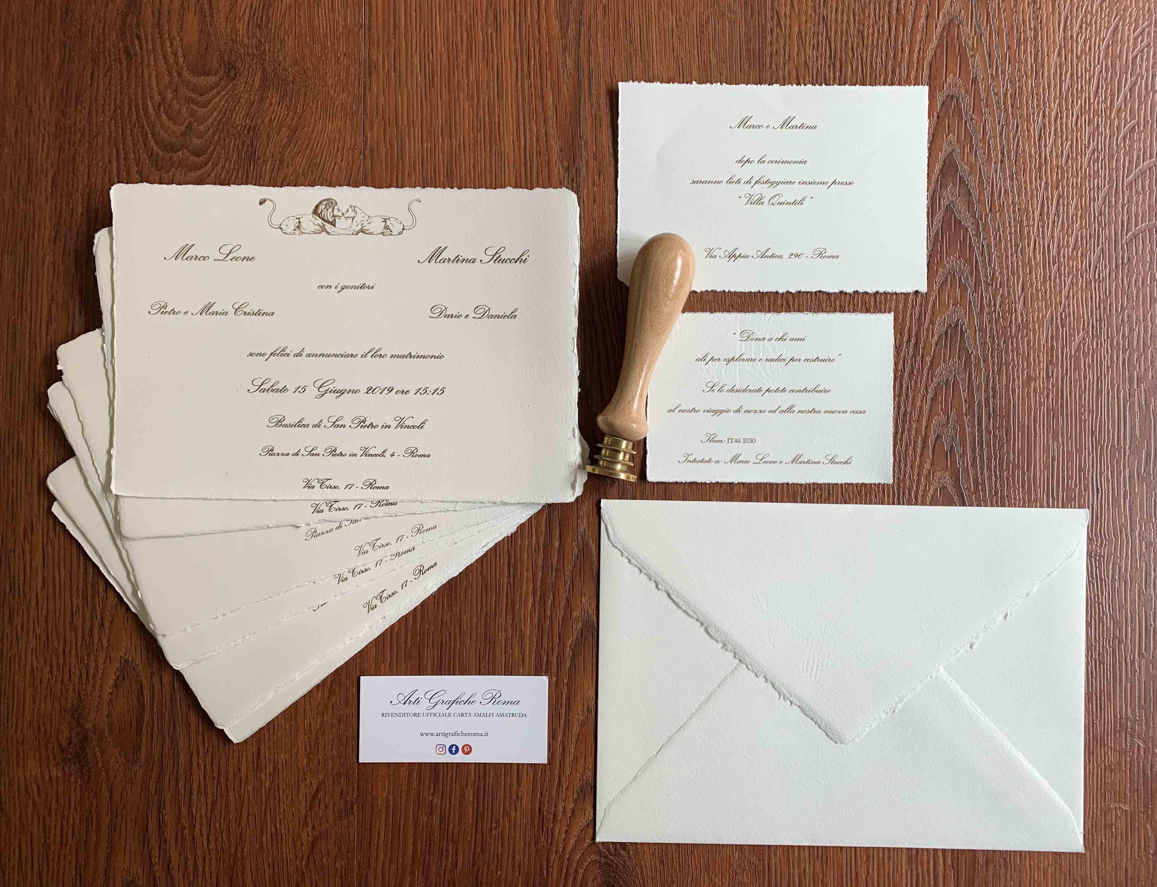 Partecipazioni Di Nozze In Carta Amalfi Partecipazioni Nozze Nozze Matrimonio Carta