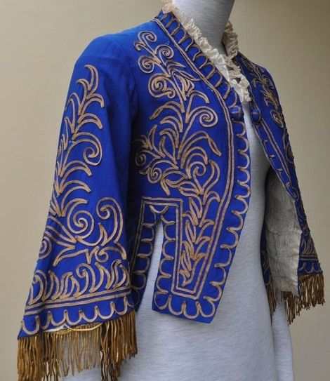 Blue jacket with gold trim and gold braid fringe hired to BBC's ...