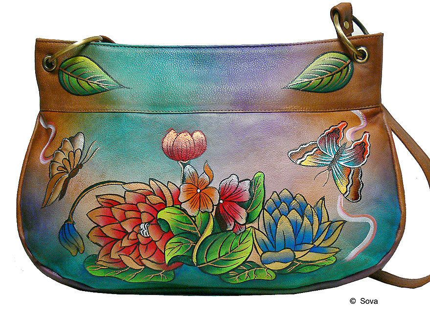 Sova Hand Painted Leather Shoulder Bag Shoulderbag