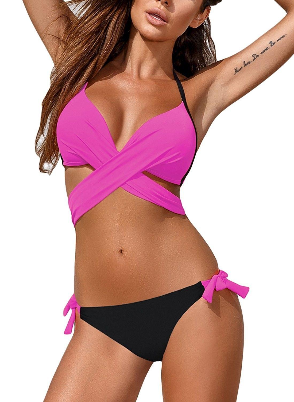 73119a35fb3 Women's Clothing, Swimsuits & Cover Ups, Racing, Women Wrap Bandage Side  Tie Bikini Set Beachwear Swimsuit - Rosy - CL1803XN7RQ #fashion #Swimsuits  ...