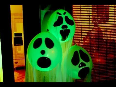 DIY Halloween Ghost Glow Balloons - Yard Decorations! Indoor