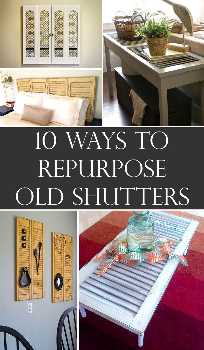 Shutters Repurposed Diy Crafts