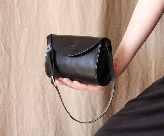 c54d26c703937 Black leather purse small leather bag black leather by Dalfia   LeatherHandbags2018