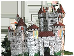paper castle template ch teau papier pinterest papier carton collant et maquettes. Black Bedroom Furniture Sets. Home Design Ideas