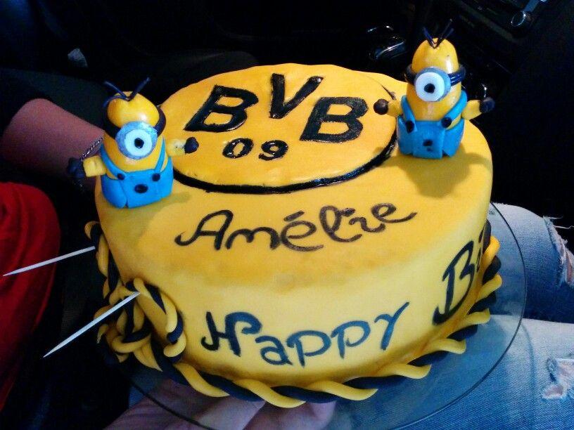 Bvb Cake Fondant Dortmund Torten Pinterest Fondant Cakes