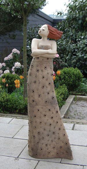 Gartenfiguren Sculpture Clay Cement Art Pottery Sculpture