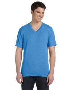 Bella + Canvas Unisex Triblend Short-Sleeve V-Neck T-Shirt 3415C TRUE ROYAL TRBLN