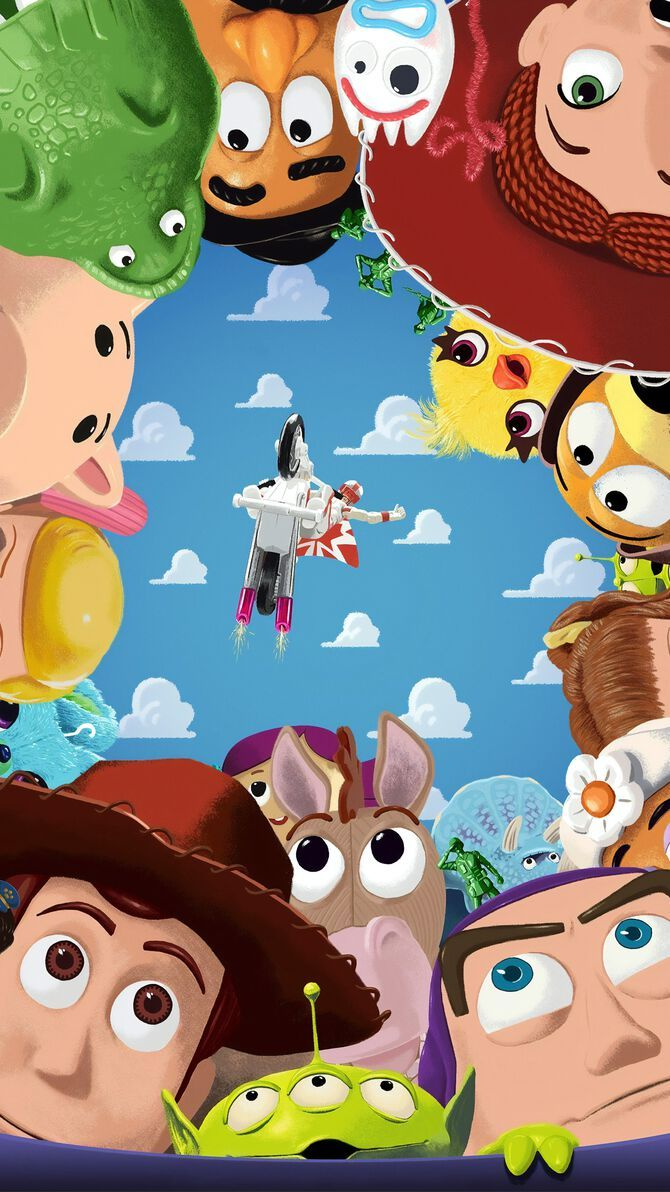 Toy Story 4 (2019) Phone Wallpaper in 2020 Cute cartoon