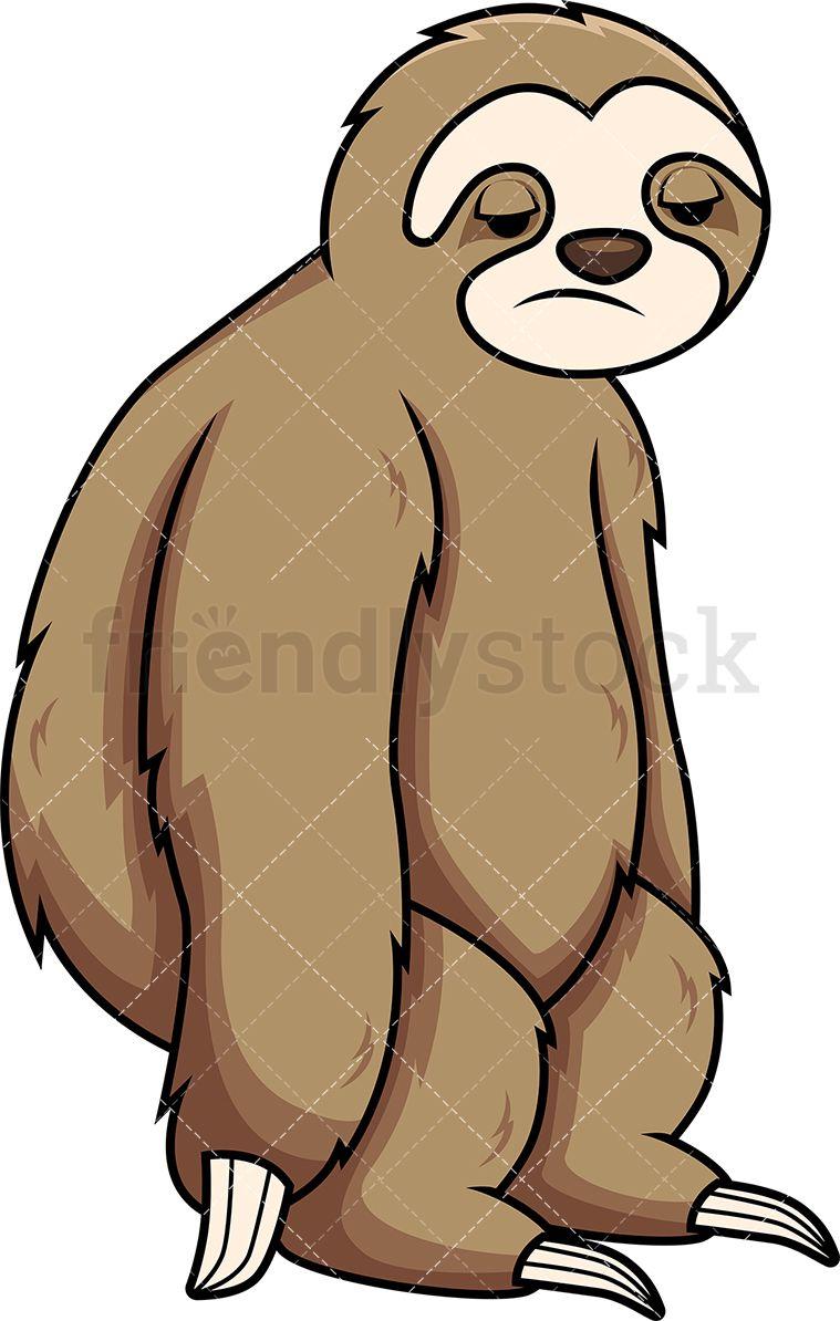 apathetic sloth cartoon vector clipart sloths pinterest clip rh pinterest com sloth clip art free sloth clip art smiling