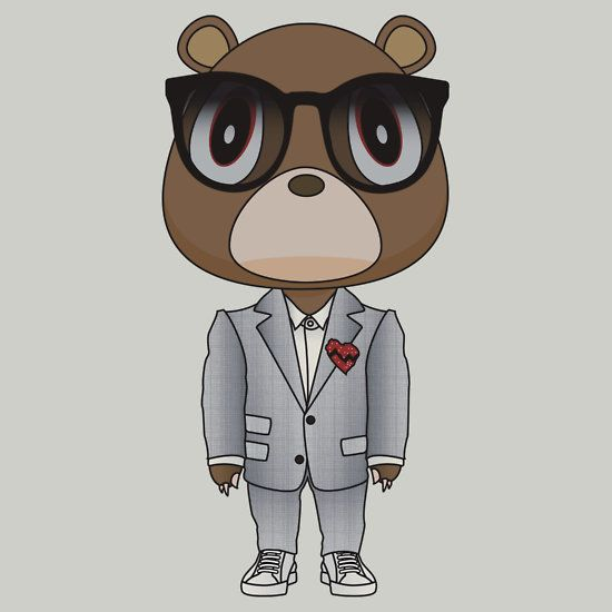 808s Heartbreak Dropout Bear By Degausser Kanye West Bear 808s Heartbreak Heartbreak Tattoo