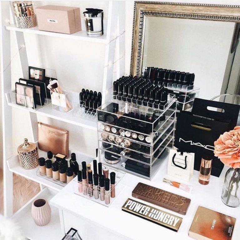 Makeup Organization Vanity Bedrooms Storage 21 is part of bedroom Organization Vanity - Makeup Organization Vanity Bedrooms Storage 21