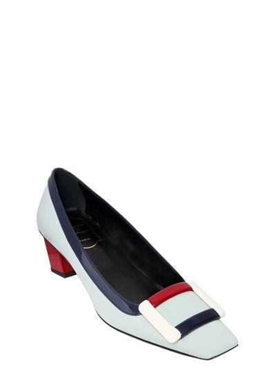 38a6ddb83 ROGER VIVIER 45Mm Belle Vivier Patent Leather Pumps