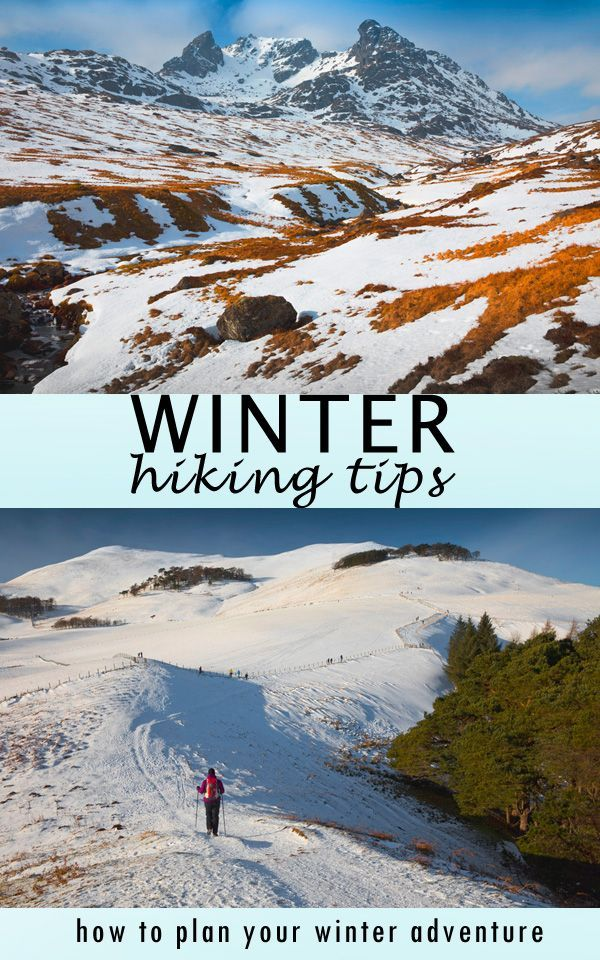 Photo of how to plan winter hike, be safe in snow, navigate and gear up for winter adventure!