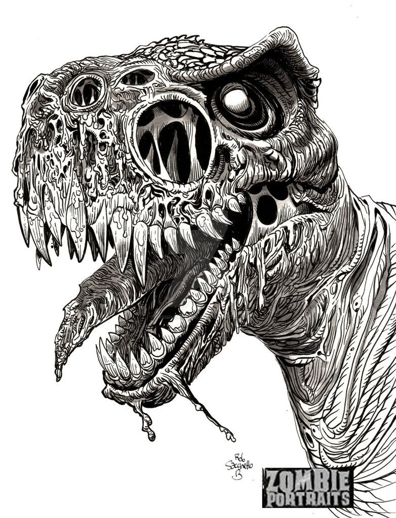Another selection from Zombie Dinosaurs Week on www.zombieportraits ...