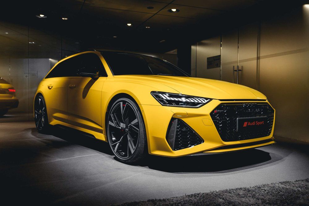 Audi Rs6 Avant C8 2020 Vegasyellow Uberdachung Terrasse Uberdachungen