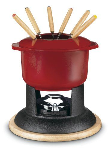 Medium Kuhn Rikon 4 Piece Cheese /& Meat Fondue Forks With Cherrywood Handles Silver//Brown
