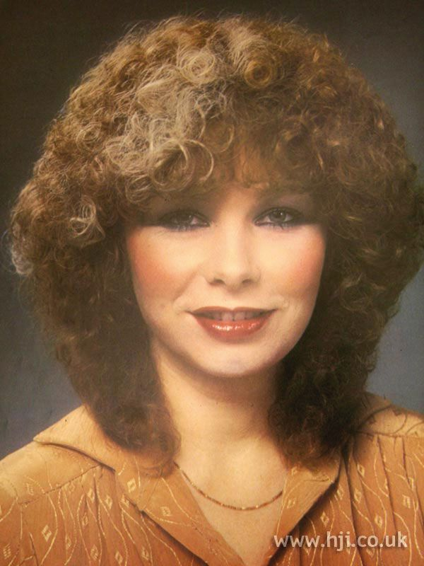 1970s Hairstyles 1979 Tight Perm Hairstyle Permed