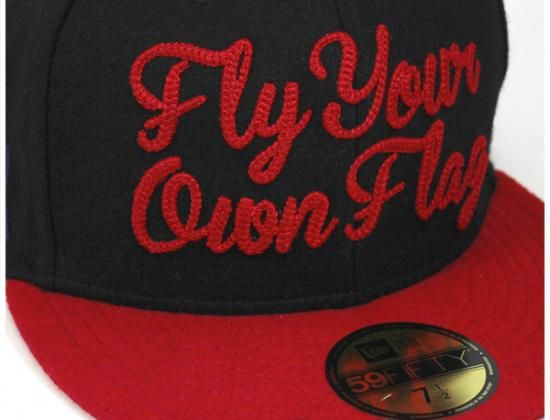 7bc880a26c0 Fly Your Own Flag 59Fifty Fitted Baseball Cap by NEW ERA x ONSPOTZ ...