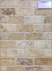Picasso Tumbled Travertine Mosaic Backsplash Tiles