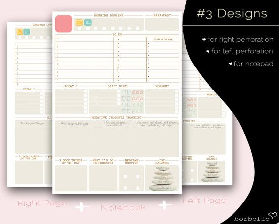 DAILY PLANNER daily planner inserts 2017 to do by BorbolloPlanners