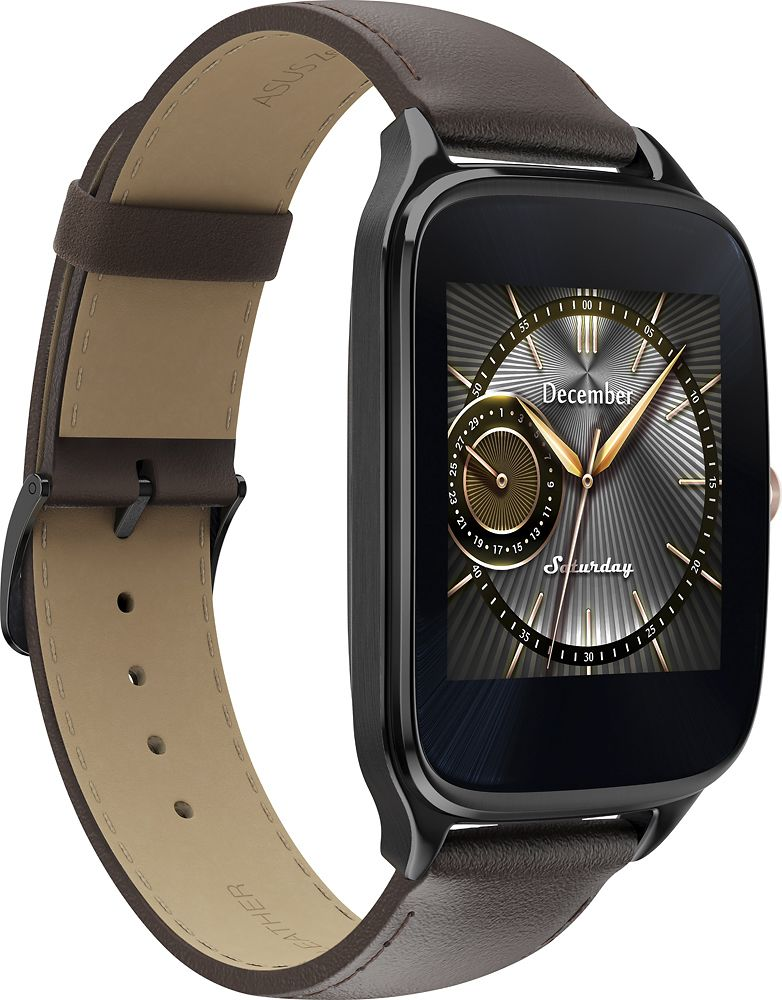 f1e0308af Asus - ZenWatch 2 WI501Q Smartwatch Gunmetal | Products | Smart ...