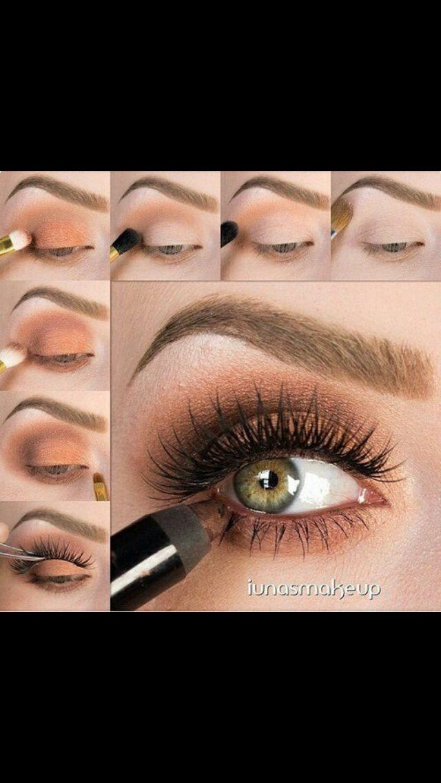Warm orange eye makeup