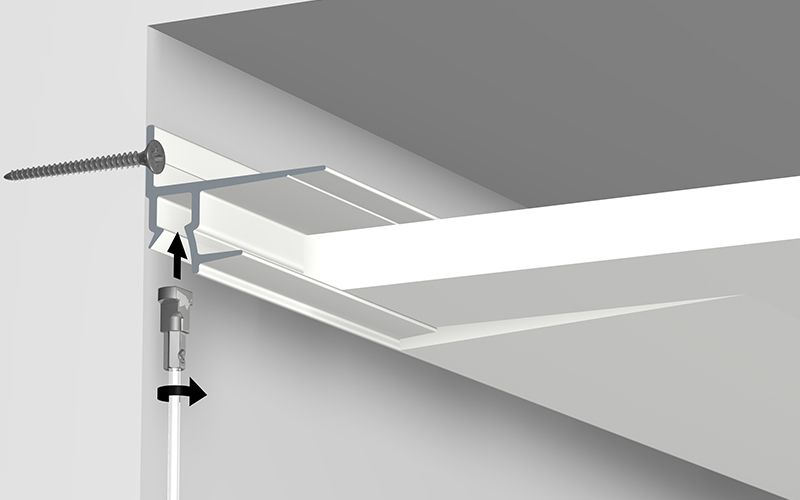 Shadowline Masonry Integrated Picture Hanging Rail