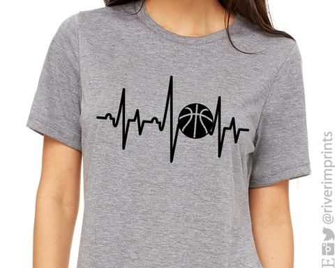 BASKETBALL HEARTBEAT Graphic Triblend Tee We love this BASKETBALL HEARTBEAT Graphic Triblend Tee by River Imprints CLICK LINK to view colors and options
