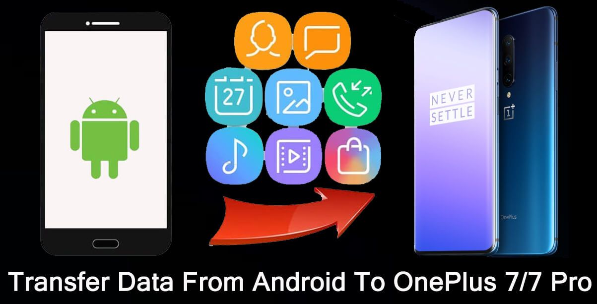 2 Solutions To Transfer Data From An Android To Oneplus 7 7 Pro Oneplus Android Data