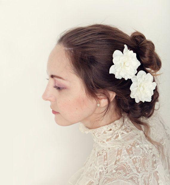 Weiße Braut Blume Pins weiße Blume Pins Bobby von whichgoose ...