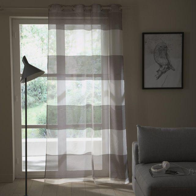 voilage d vor larges rayures la redoute rideaux panneaux japonais stores pinterest. Black Bedroom Furniture Sets. Home Design Ideas