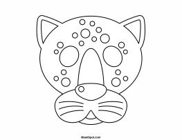 Jaguar Mask To Color Rainforest Preschool Printables Printable