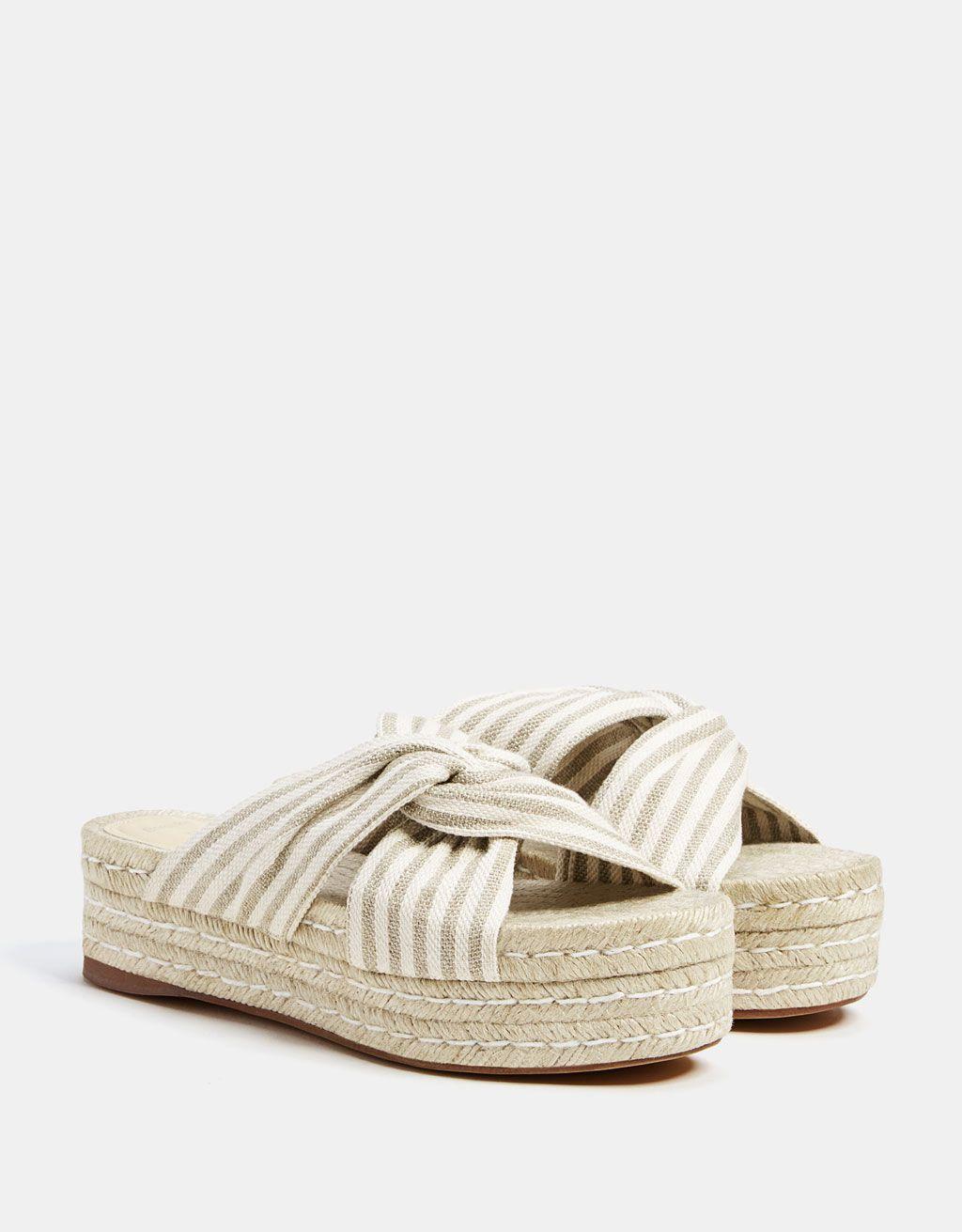 bajo precio 4da39 d50d0 Sandalia plataforma yute rayas | Zapatos-Plataformas en 2019 ...