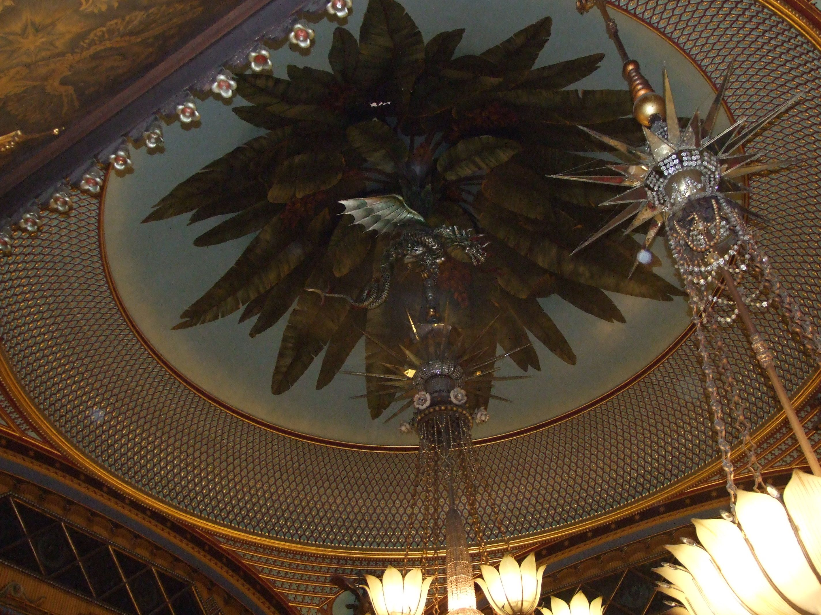 The fantastical Dragon chandelier in the Banqueting room of the