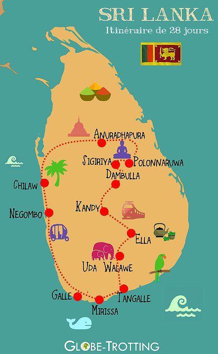 Epingle Par Globe Trotting Sur Infographies Et Cartes Voyage Tourisme Carte Voyage Voyage Et Sri Lanka