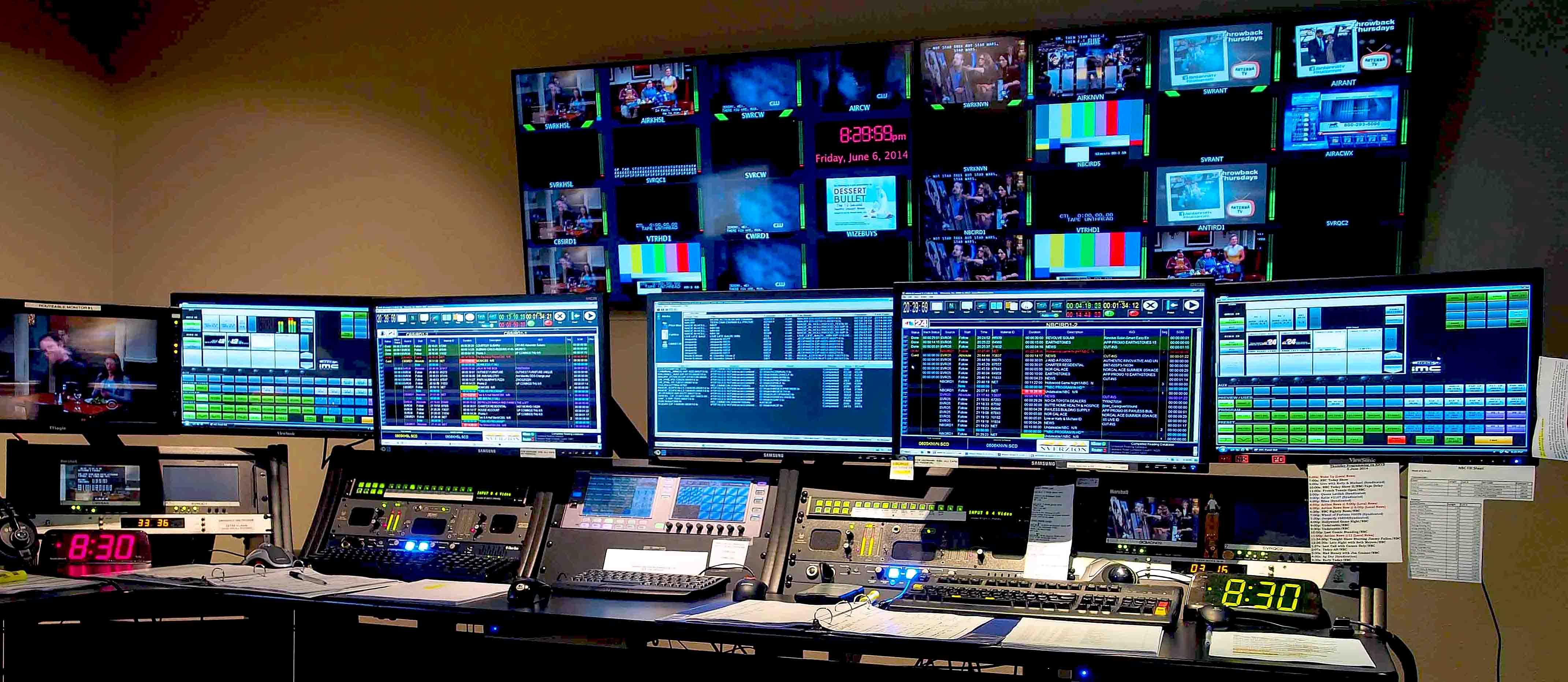 Tv Master Control Room The Tv Biz Pinterest