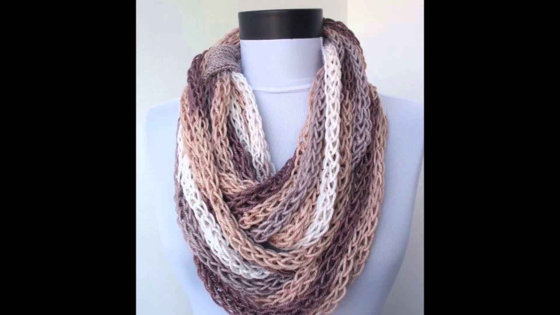 Bufandas de moda para dama tejidas a crochet y dos agujas | aida ...