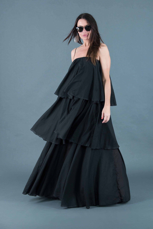 New women cotton black maxi dresswomen long party dress