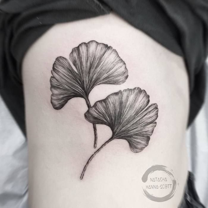 24 Gorgeous Ginkgo Leaf Tattoo Designs Botanical Tattoos Tattoos