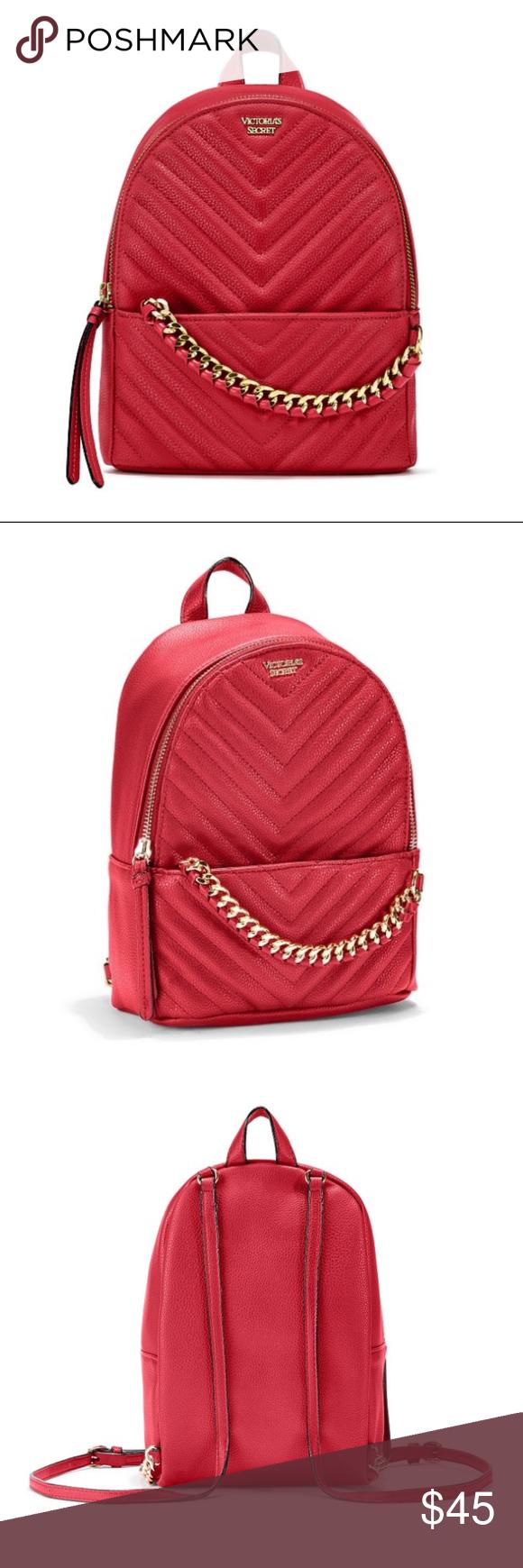 1698e8eb42 Victoria s Secret Pebbled V-Quilt Small Backpack NWT Still in Protective  Plastic Victoria s Secret Pebbled V-Quilt Small City Backpack - Red.