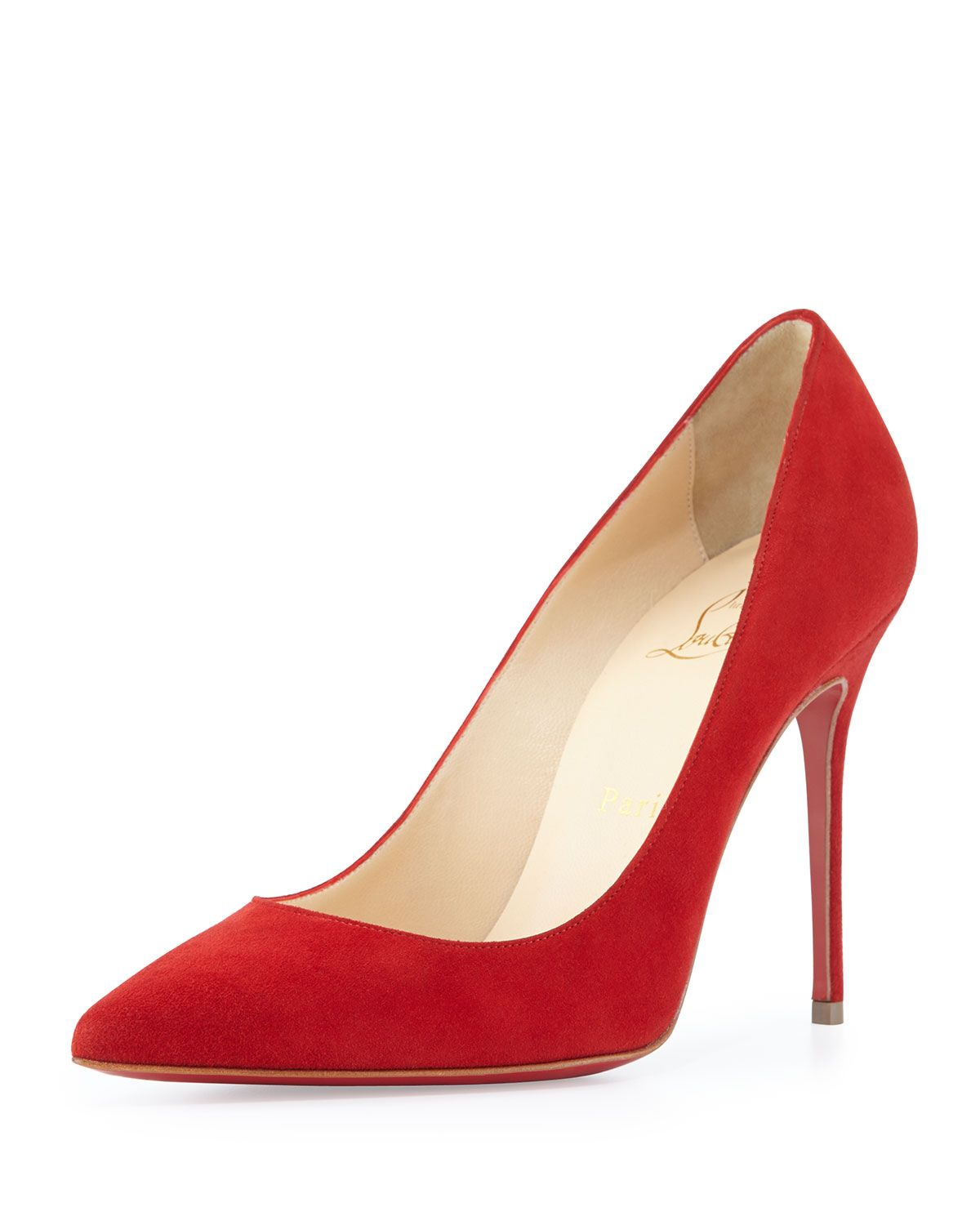 5b9eff92eadf Christian Louboutin 100MM Decollete 554 red suede