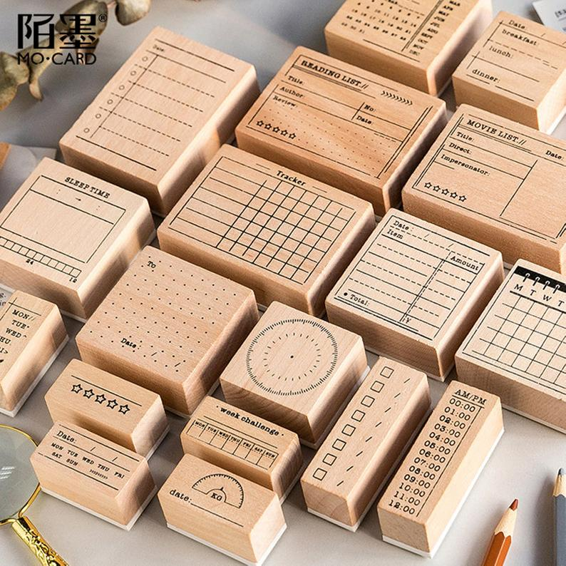Day Planner Stamps Ink Stamps Bullet Journal Stamp Office Etsy In 2020 Planner Stamps Calendar Stamps Office Stamps
