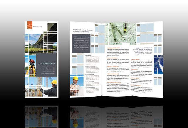 civil engineering and construction brochure template collateral