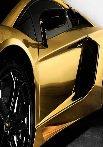 Gold Lamborghini Aventador With Images Gold Lamborghini Super Cars Expensive Cars