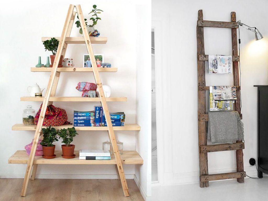 10 incre bles formas de reciclar escaleras de madera for Formas de escaleras