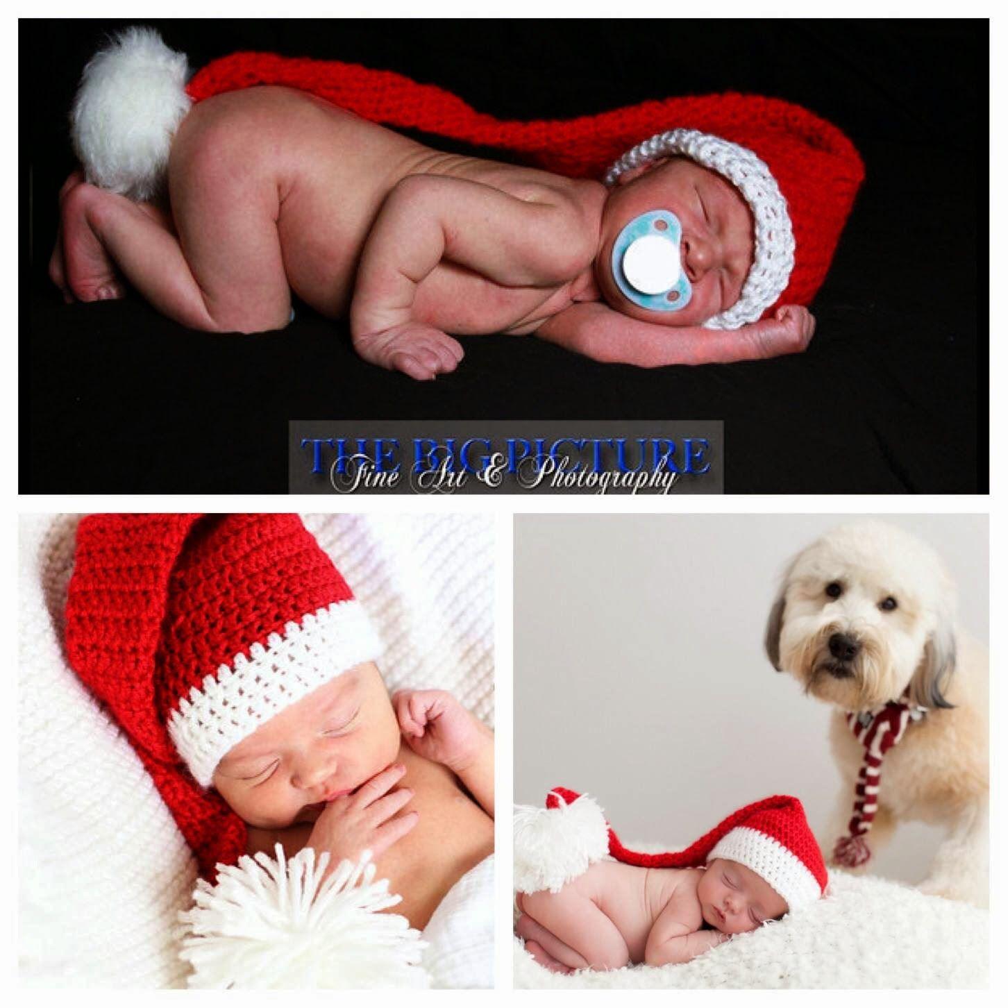 Yvette Marie Crafts: Free newborn crochet Santa Long Tail hat ...