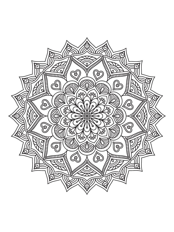 Mindfulness Mandalas N 1 Mandala Mandala coloring