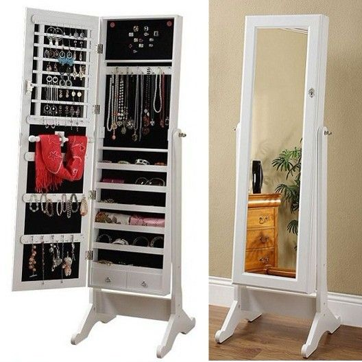 Dressing Mirror Jewelry Cabinet